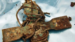 Part of the Viking treasure find