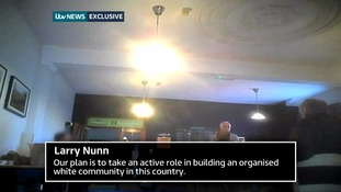 Organiser Larry Nunn gave a speech on creating an 'organised white society'.