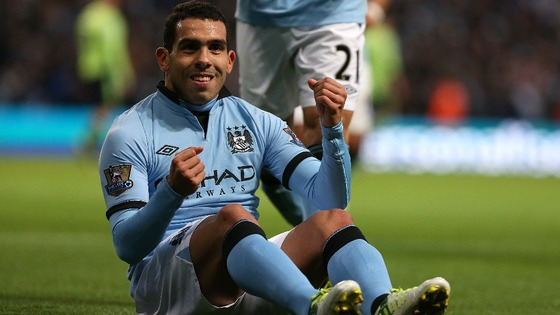 Carlos Tevez goal celebration