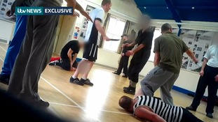 ITV News filmed at a 'survival camp' where attendees learned how to deal with a knife attack.