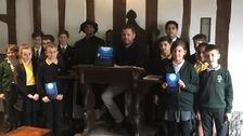 Children from Alveston Primary School, Stratford Primary School and King Edward VI School taking part in the taster events.