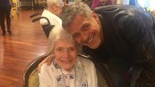George Clooney and Pat Adams