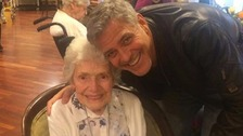 Hollywood heartthrob George Clooney makes surprise visit to elderly fan