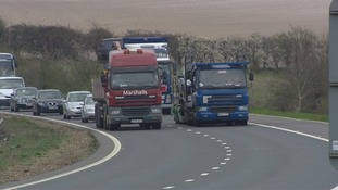 Lorry overtaking ban on parts of the M11 in Essex