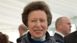 Princess Anne visiting Cumbria today