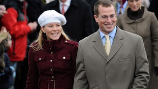Peter Phillips and wife Autumn