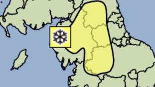 Snow warning for Cumbria