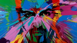 Damien Hirst paints picture of George Michael to raise money for HIV and AIDS prevention