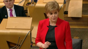 First Minister Nicola Sturgeon speaks during the debate.