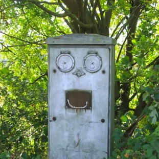 Smiling electrical box