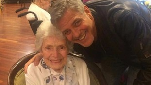 OAP who met George Clooney says it's a day she won't forget 'because he's a bit of all right!'