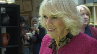The Duchess of Cornwall is unveiling a new statue.
