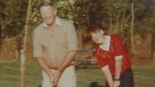 Stephen Gault with his father, who was killed in an IRA bombing