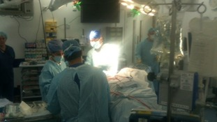 Jonathan during surgery