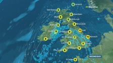 Weather: Sunshine and wintry showers