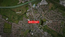 Investigation after man dies in Salford fire