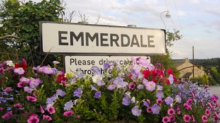 The Emmerdale village sign