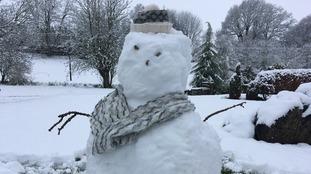 A snowman in Newbiggin.