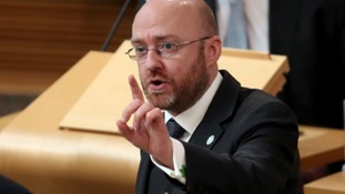 Scottish Greens leader Patrick Harvie speaking in the indyref2 debate