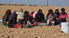 Syrians are fleeing from areas under the control of so-called Islamic State.