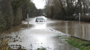 The Gloucester to Ledbury road has been closed