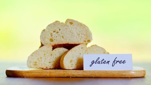 Gluten free bread on display