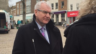 Thames Water chief executive Steve Robertson outside of court