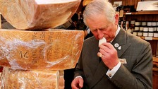 Prince Charles samples cheese in Yorkshire Dales visit