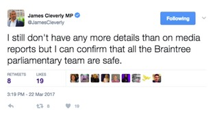 Region's MPs react to Westminster attack