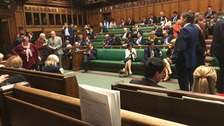 The scene inside Parliament