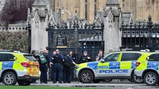 emergency services at the scene outside the Palace of Westminster,