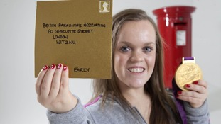 Paralympian Ellie Simmonds launches the Royal Mail Post Early campaign to encourage consumers to send their Christmas cards early.