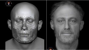 Archaeologists create computer reconstruction of skull  buried in ancient graveyard