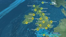 Weather: Rain and strengthening winds