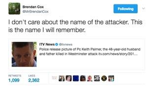 Brendan Cox's tweet about the terror attack