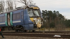 Train driver hailed a hero after crash at Norfolk level crossing
