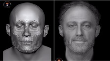 Reconstruction of medieval skull buried in ancient graveyard