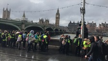 School children return home after Westminster terror attack