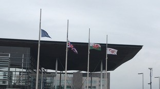Senedd flags 230317