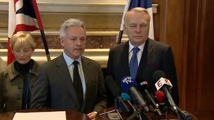 Sir Alan Duncan said France and the UK stand 'shoulder to shoulder'