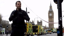 The security operation continues at Westminster following Wednesday's attack.