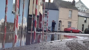 Large areas of the south west have been affected by floods.