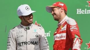 Hamilton targets Vettel battle as he declares Ferrari favourites for F1 title