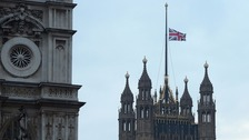 London - a city of sirens and flags at half mast