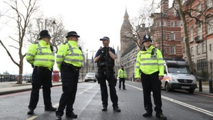 Armed police in London following the terror attack.