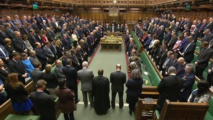 MPs held a minute's silence before the start of Thursday's session