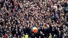 Thousands gather in NI for Martin McGuinness funeral