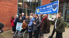 Watch: Health campaigners protest proposals to change healthcare