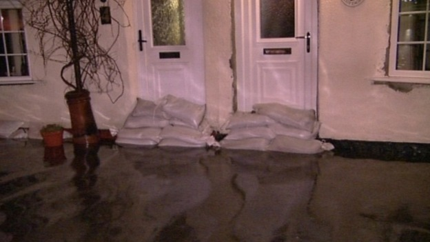 Sandbags at Cowpen Bewlay