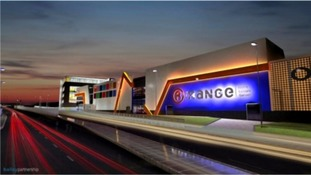 The proposed new The Range HQ in Plymouth.